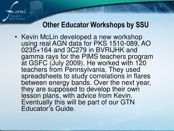 Other Educator Workshops by SSU