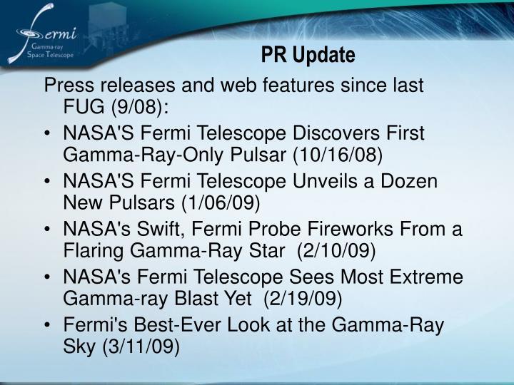 PR Update