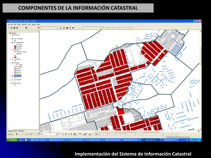 COMPONENTES DE LA INFORMACIÓN CATASTRAL