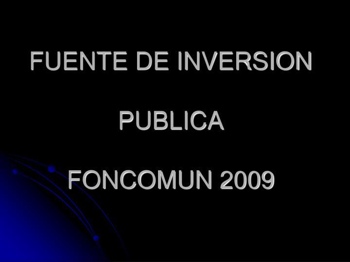 FUENTE DE INVERSION