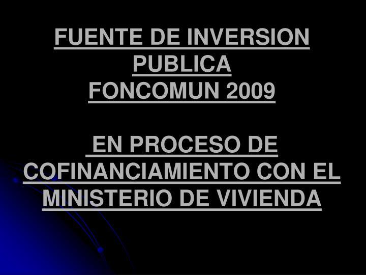 FUENTE DE INVERSION PUBLICA