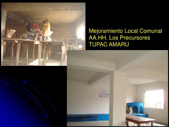 Mejoramiento Local Comunal