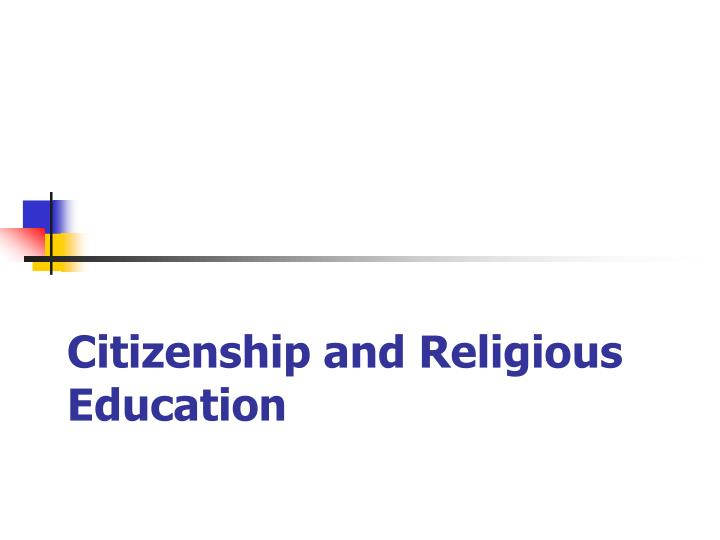 Citizenship and religious education