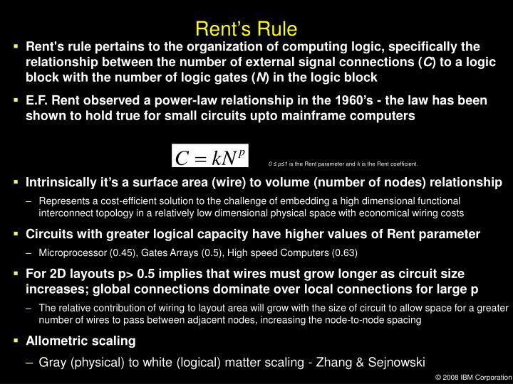 Rent's Rule