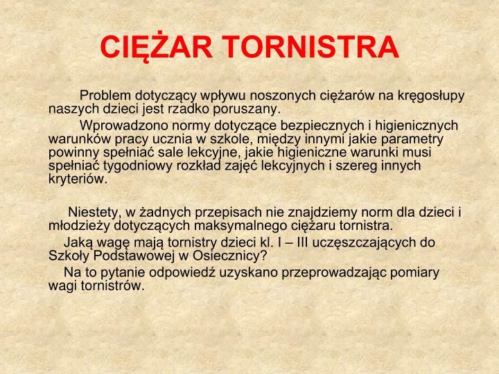 CIĘŻAR TORNISTRA