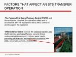 factors that affect an sts transfer operation1