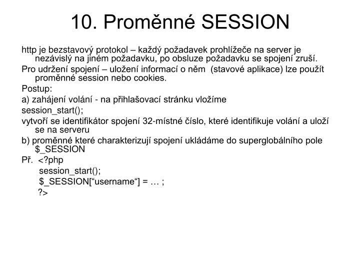 10. Proměnné SESSION