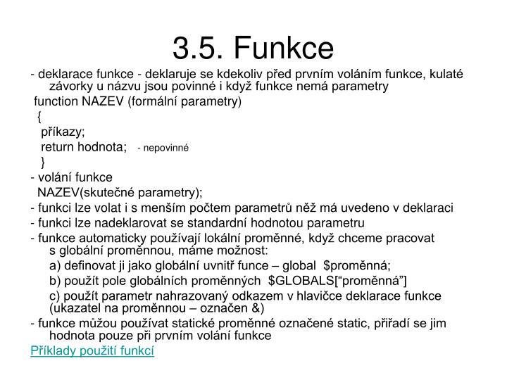 3.5. Funkce