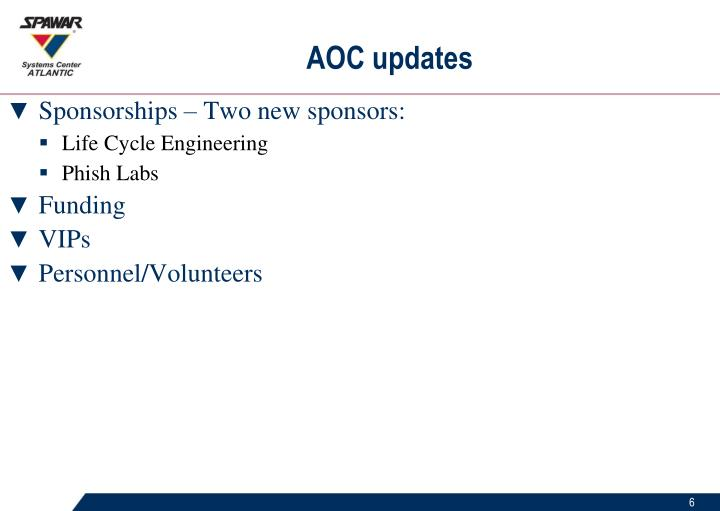 AOC updates