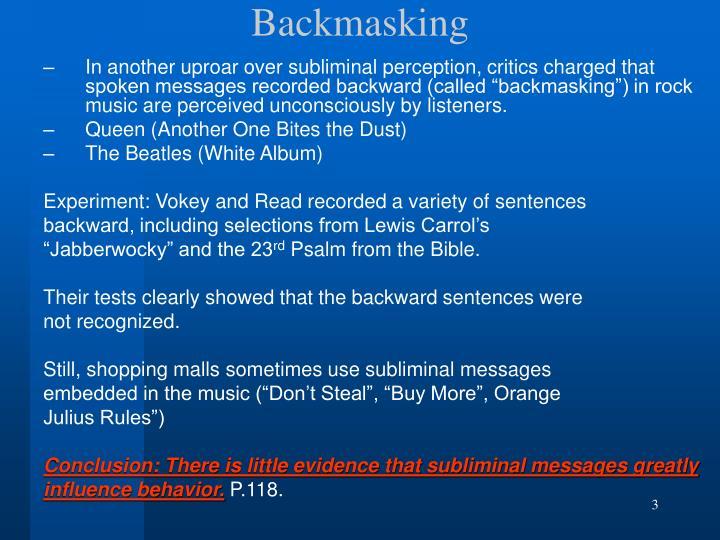 Backmasking