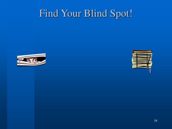 Find Your Blind Spot!