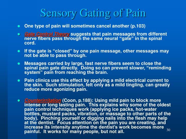 Sensory Gating of Pain
