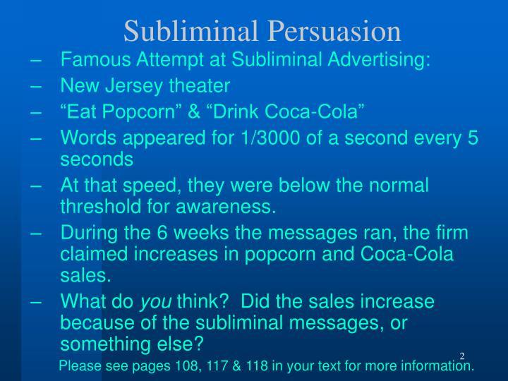 Subliminal Persuasion