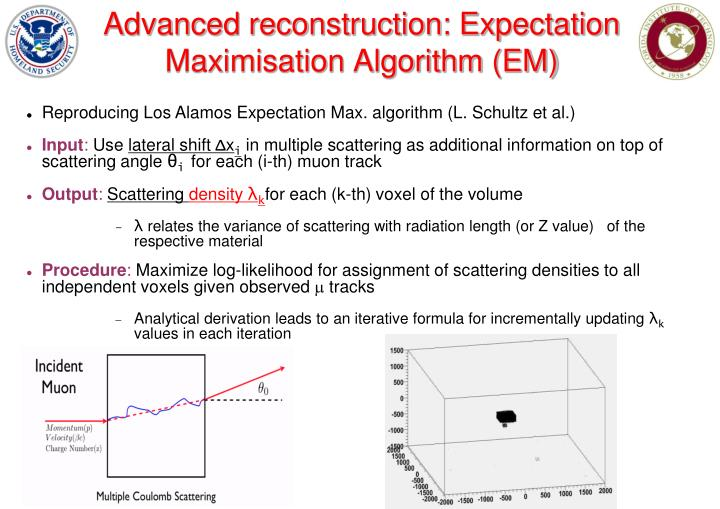 Advanced reconstruction: Expectation Maximisation Algorithm (EM)