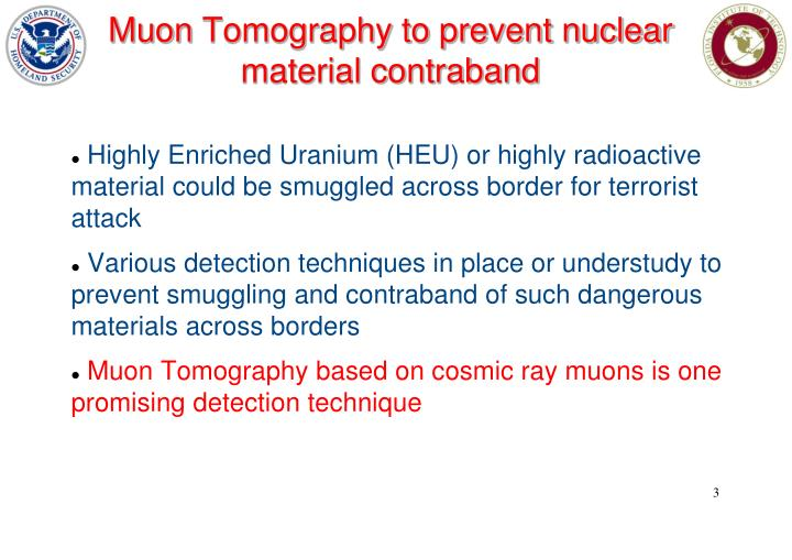 Muon tomography to prevent nuclear material contraband