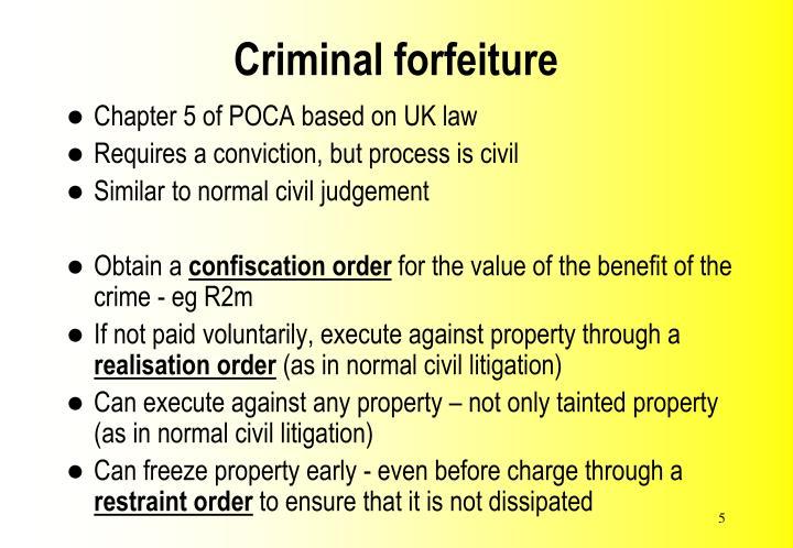 Criminal forfeiture