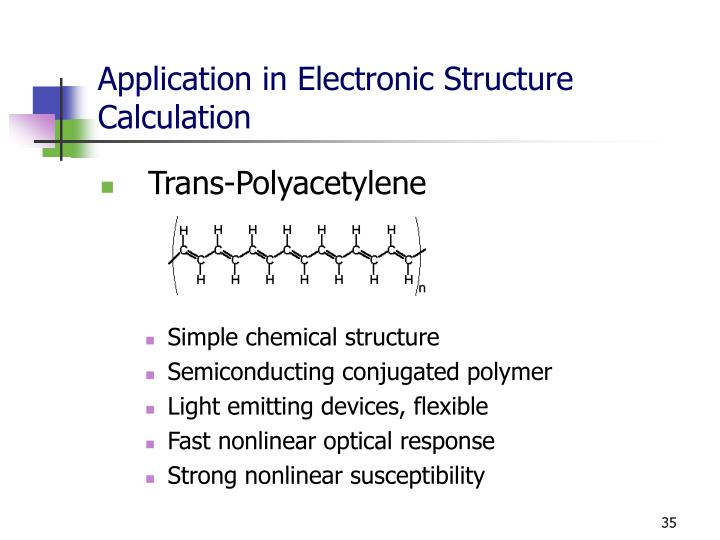 Application in Electronic Structure Calculation