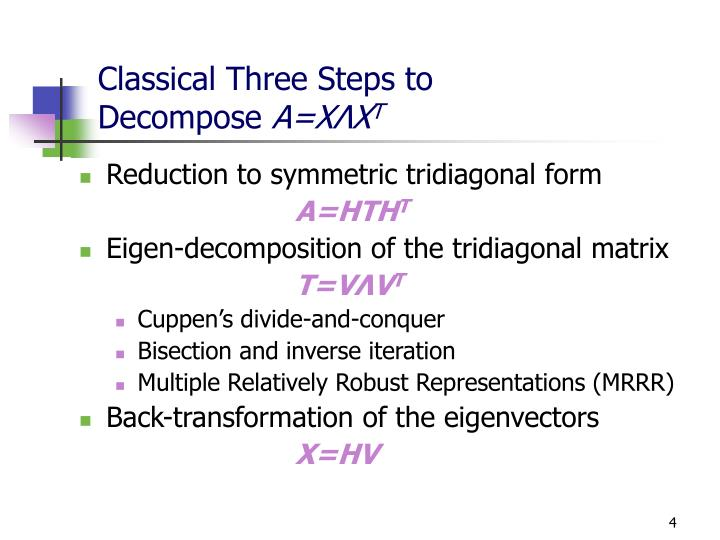 Classical Three Steps to