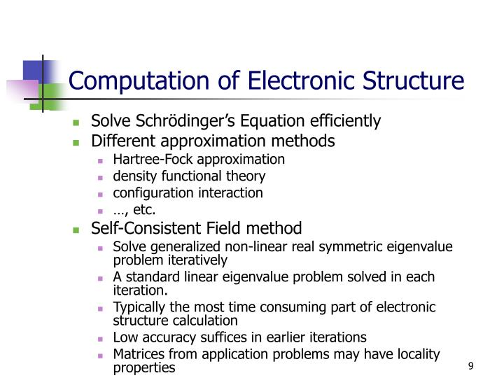 Computation of Electronic Structure