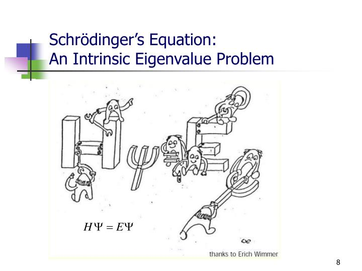 Schrödinger's Equation: