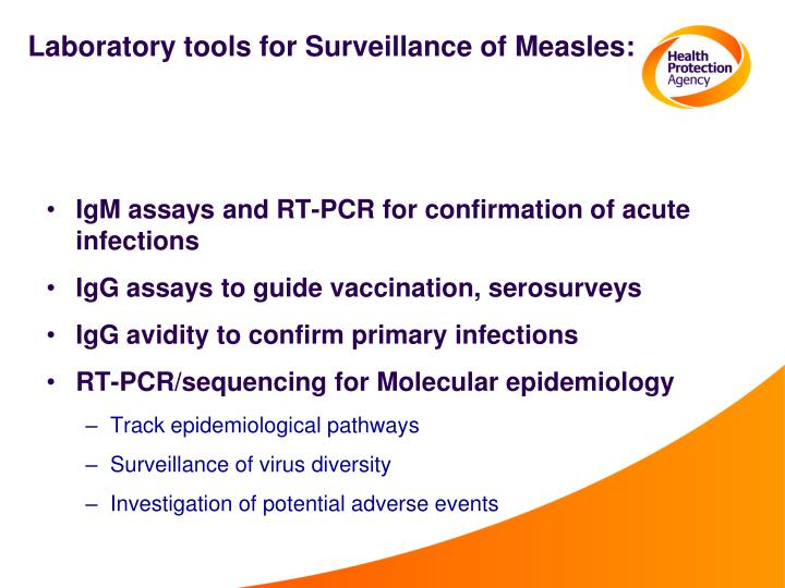 Laboratory tools for Surveillance of Measles:
