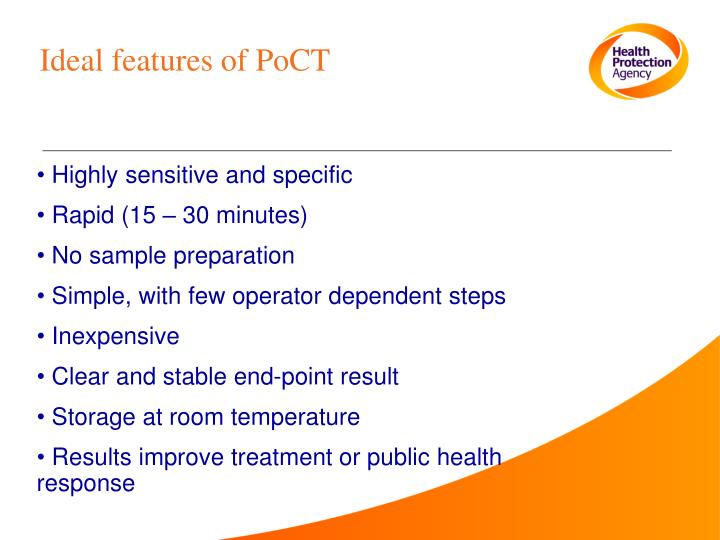 Ideal features of PoCT