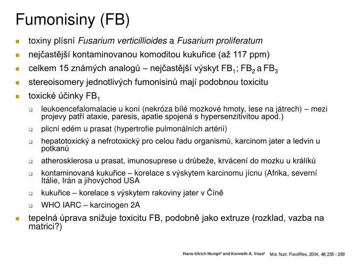 Fumonisiny (FB)
