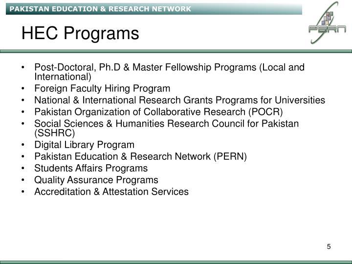 HEC Programs