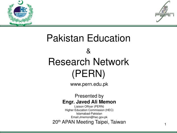 Pakistan education research network pern