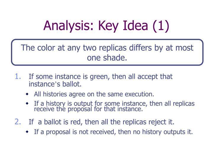 Analysis: Key Idea (1)