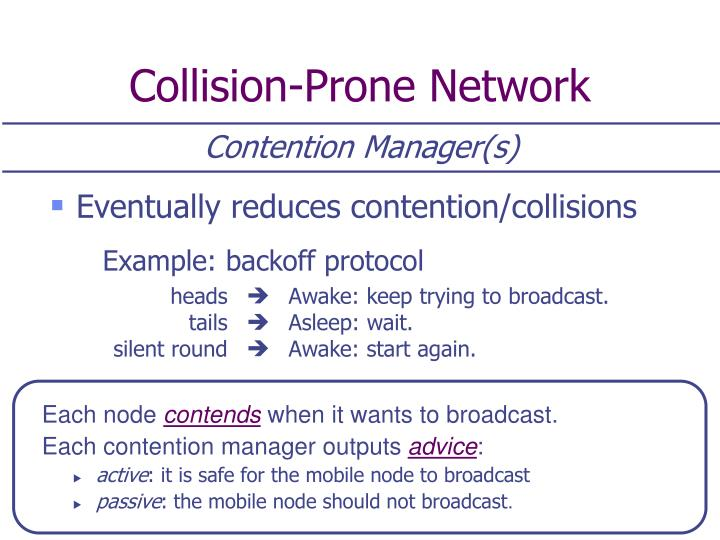 Collision-Prone Network