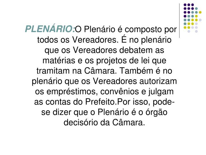 PLENÁRIO: