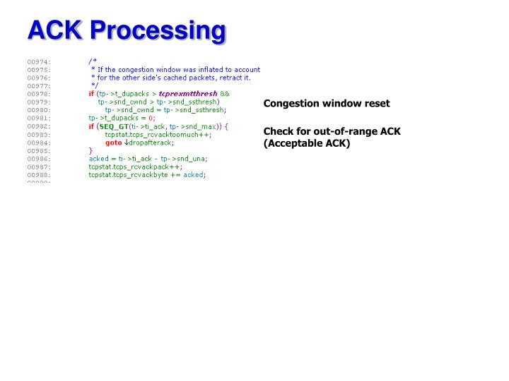 ACK Processing