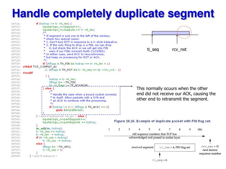 Handle completely duplicate segment