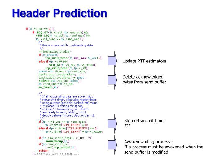 Header Prediction