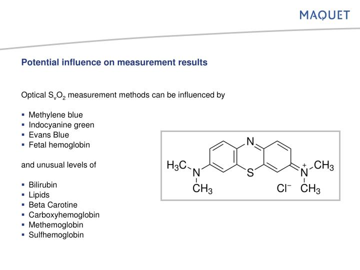 Potential influence on measurement results