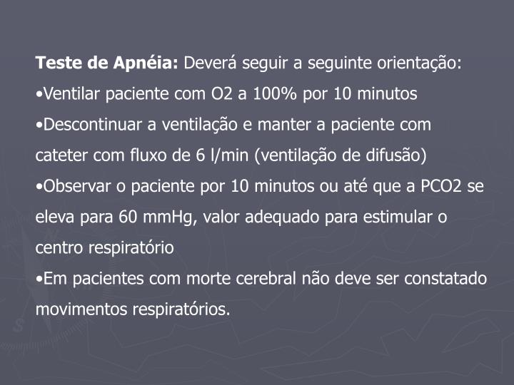Teste de Apnéia: