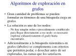algoritmos de exploraci n en grafos