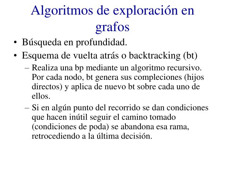 Algoritmos de exploración en grafos
