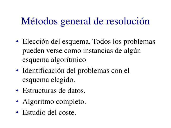 Métodos general de resolución