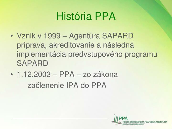 História PPA