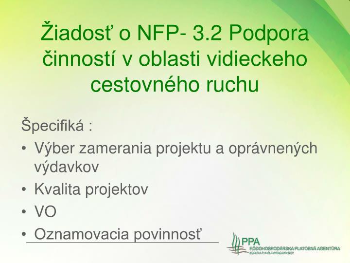 Žiadosť o NFP-