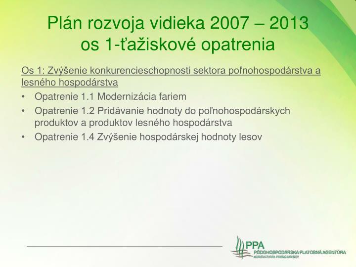 Plán rozvoja vidieka 2007 – 2013