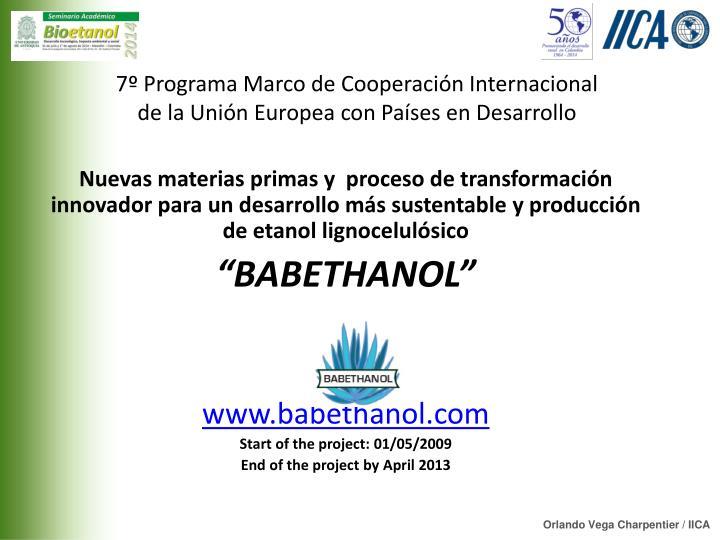 7º Programa Marco de Cooperación Internacional