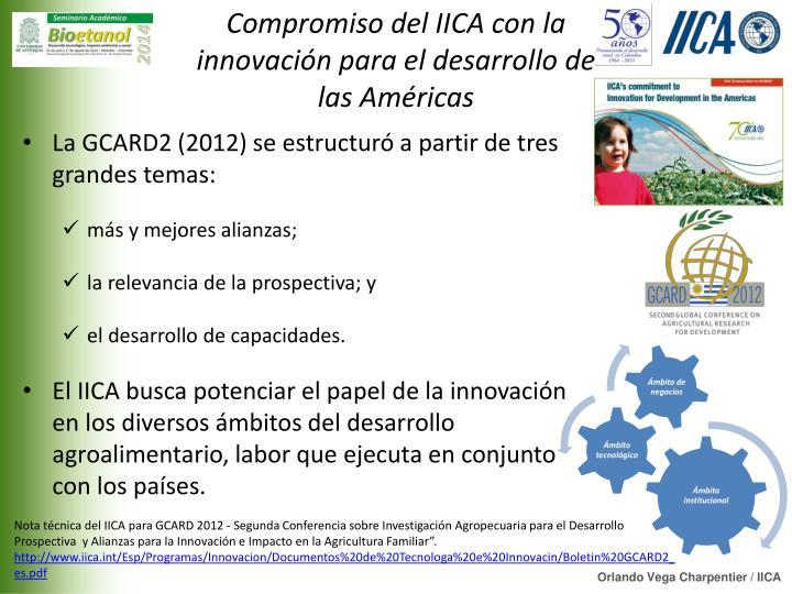 Compromiso del IICA con la innovación para el desarrollo de las Américas