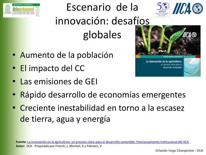 Escenario  de la innovación: desafíos globales