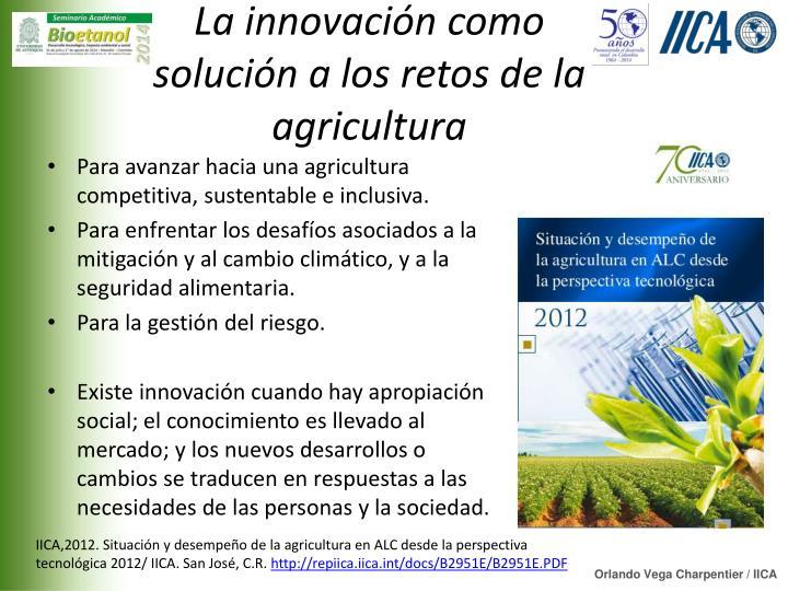 La innovación como solución a los retos de la agricultura