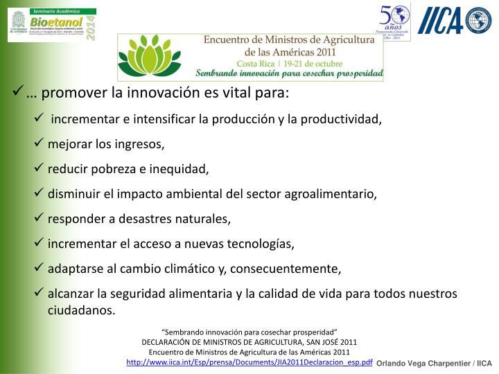 """Sembrando innovación para cosechar prosperidad"""