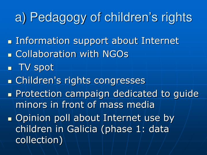 A pedagogy of children s rights