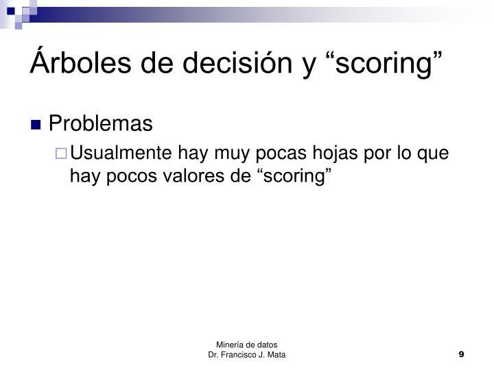 """Árboles de decisión y """"scoring"""""""